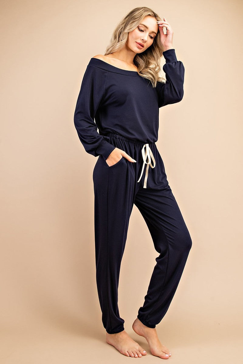 Navy Blue Long loungewear