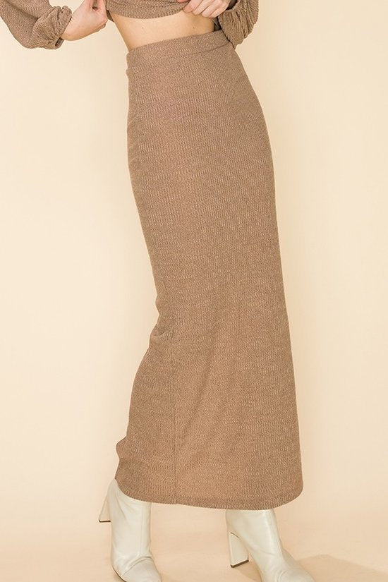 Sweater Dress Two Piece Tawny Brown