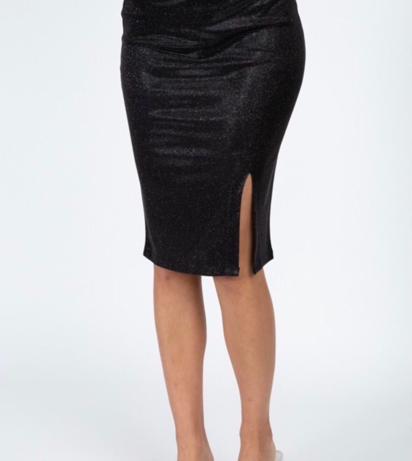 Pencil Skirt with Shimmer