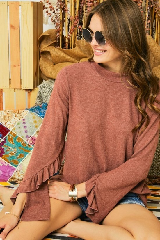 Mauve Hacci Sweater