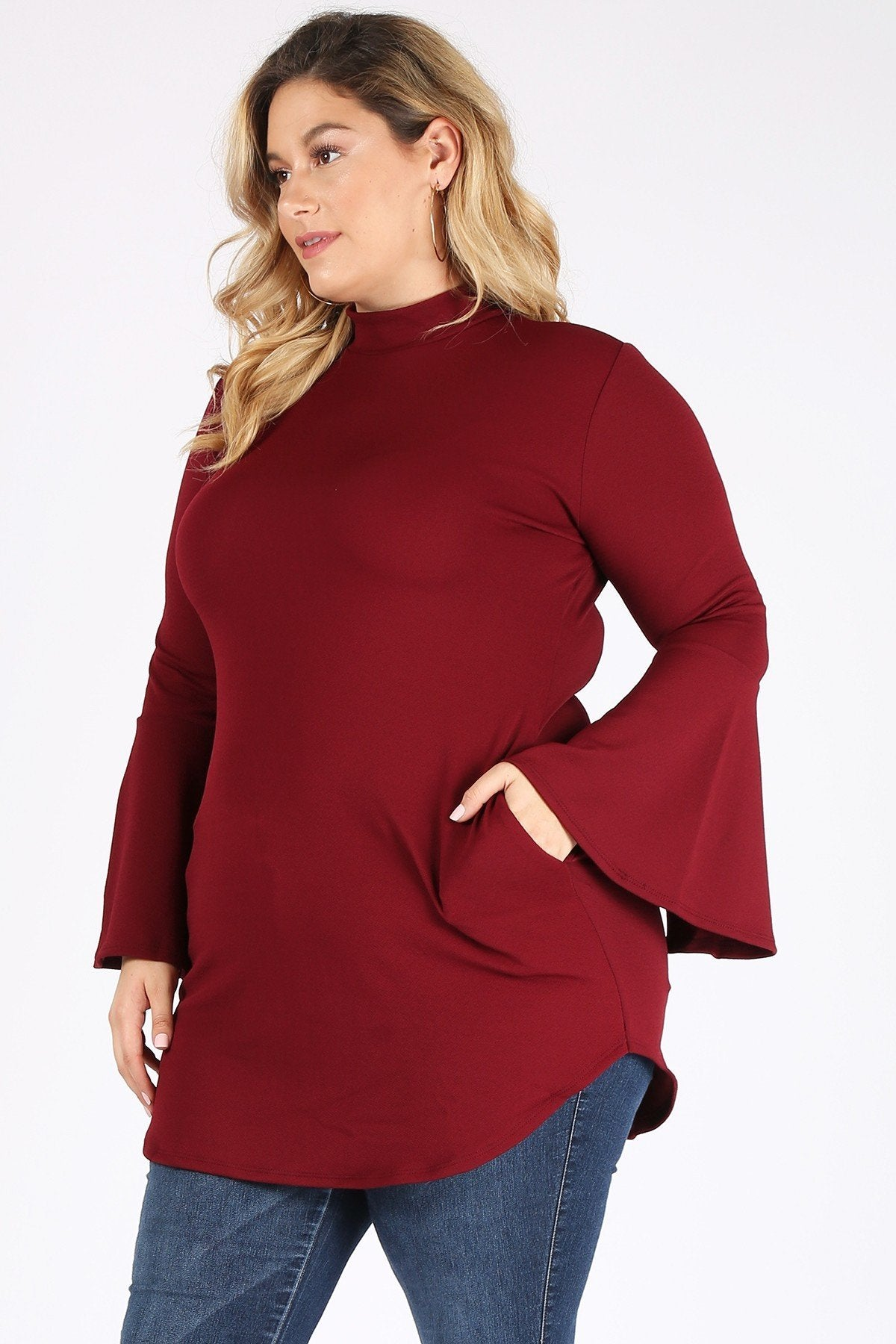 Burgundy Plus Top