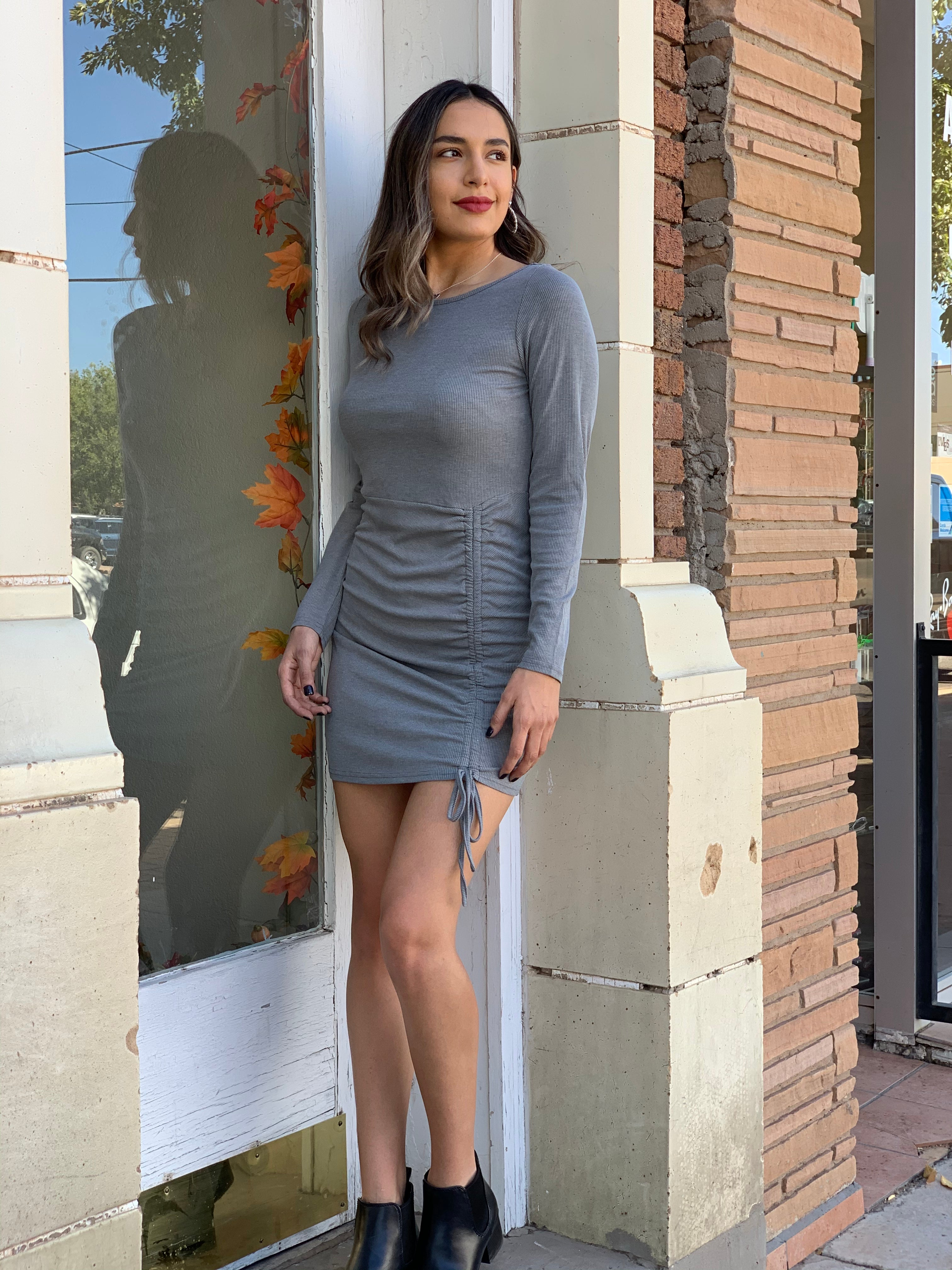 Gray Mini Dress