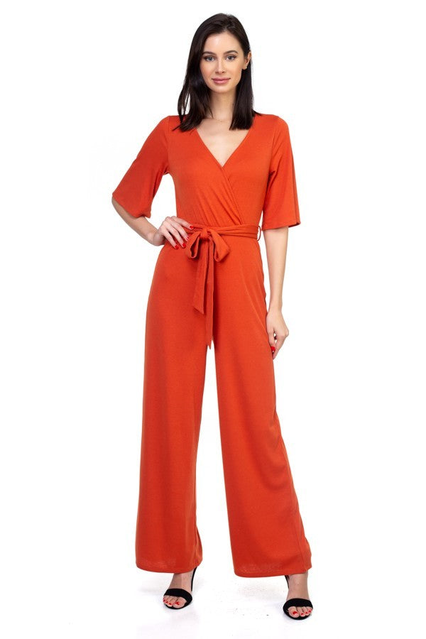 Orange Long Jumpsuit