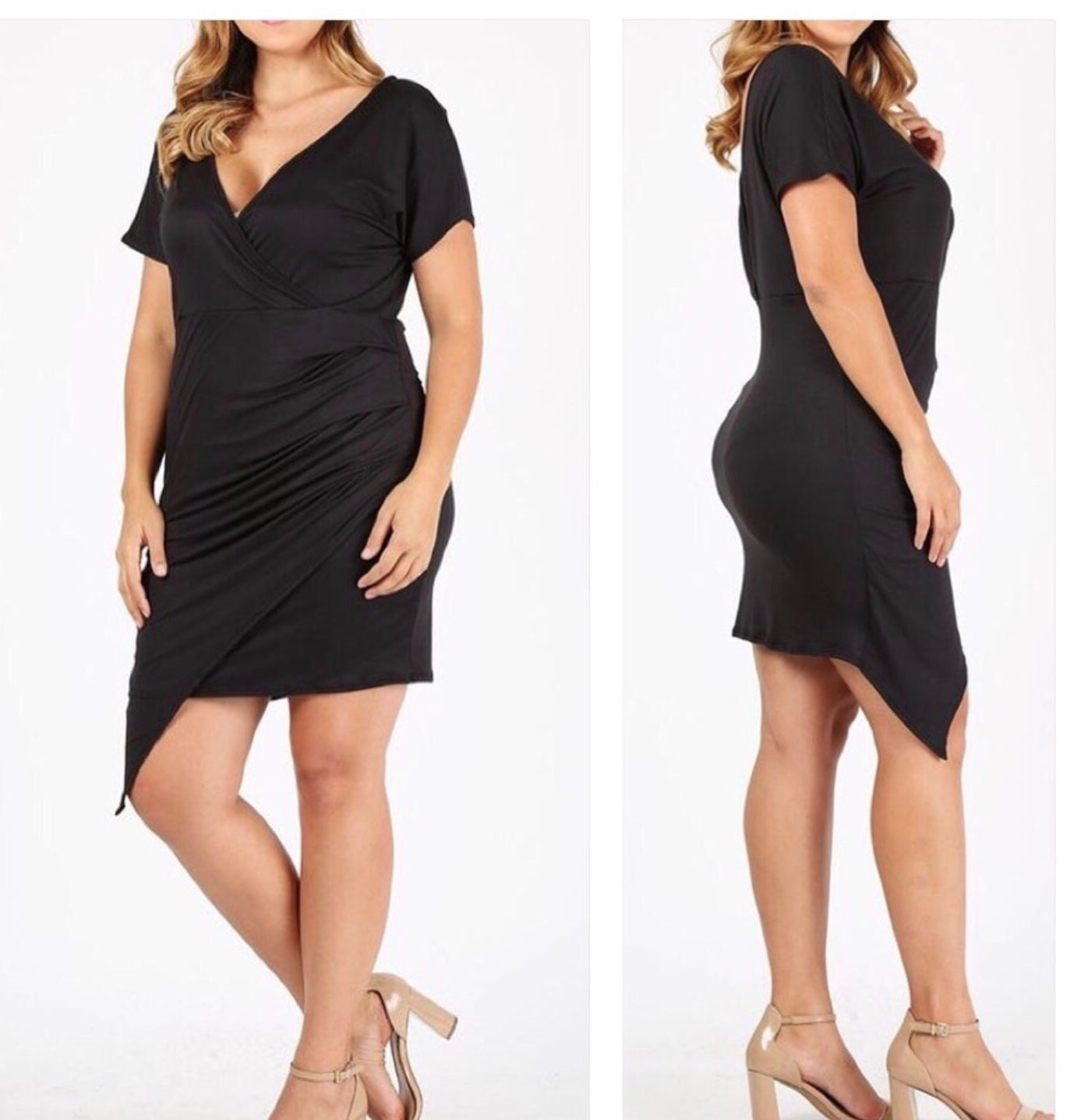 Plus Size Black Mini Dress