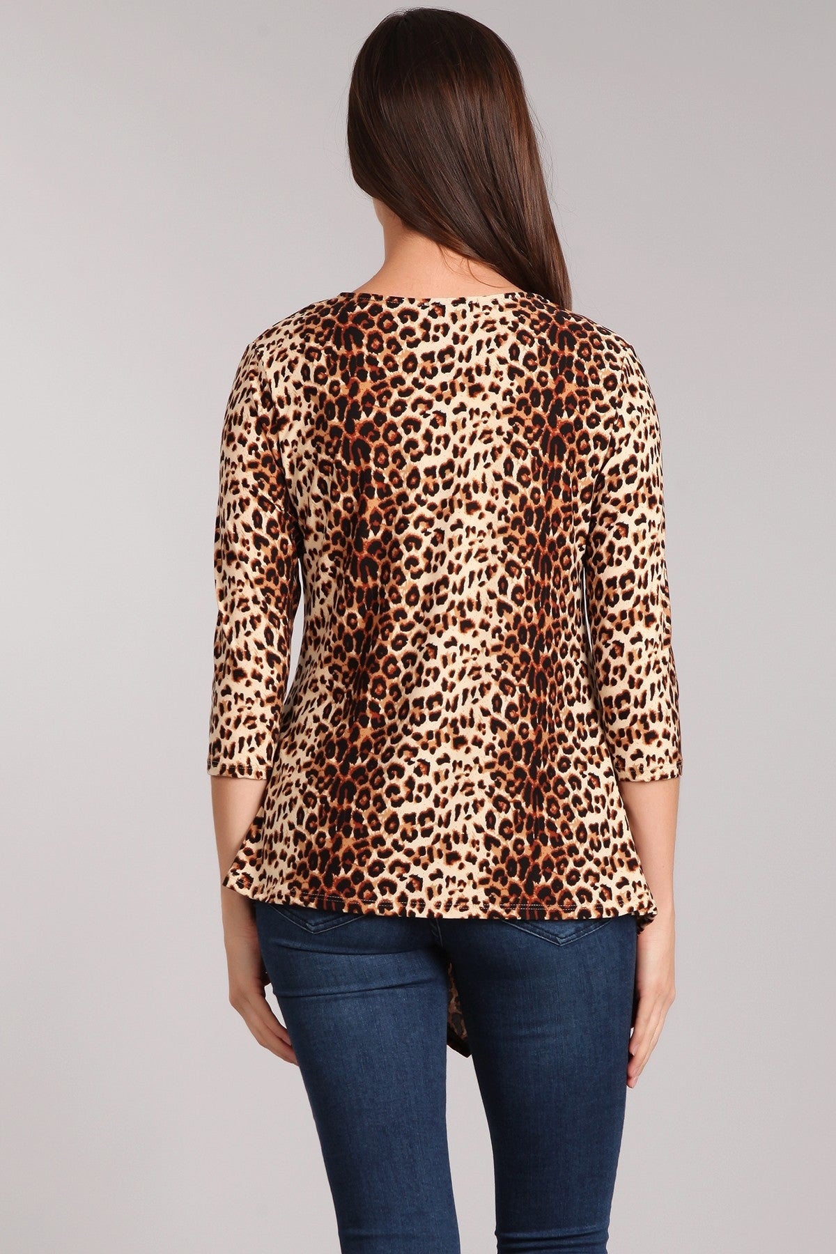 Long Sleeve Leopard Print Top