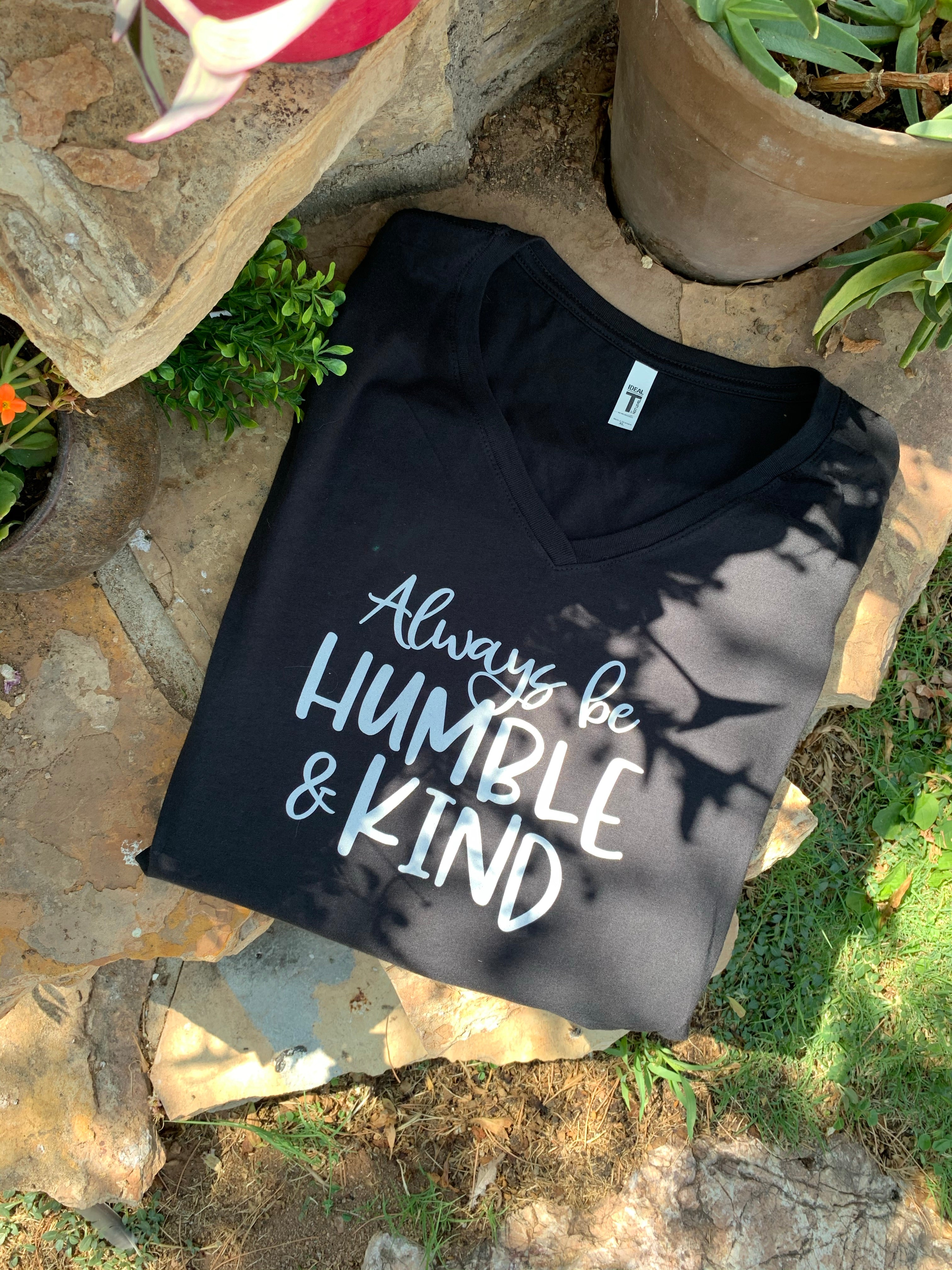 Graphic Message Tee Always be Humble and Kind