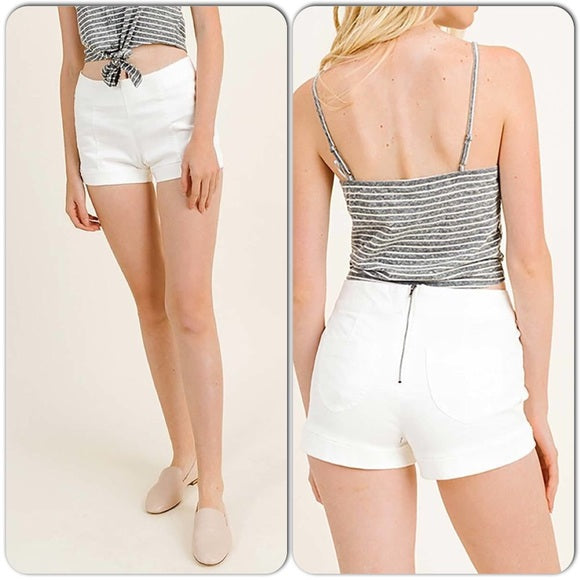 Shorts Mini White