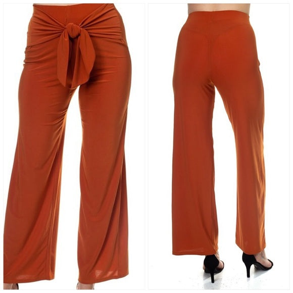Rust Front Wrap Pants