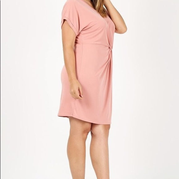 Plus Size Rose Pink Dress