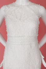 Load image into Gallery viewer, White Lace Dress White Party Ready