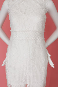 White Lace Dress White Party Ready