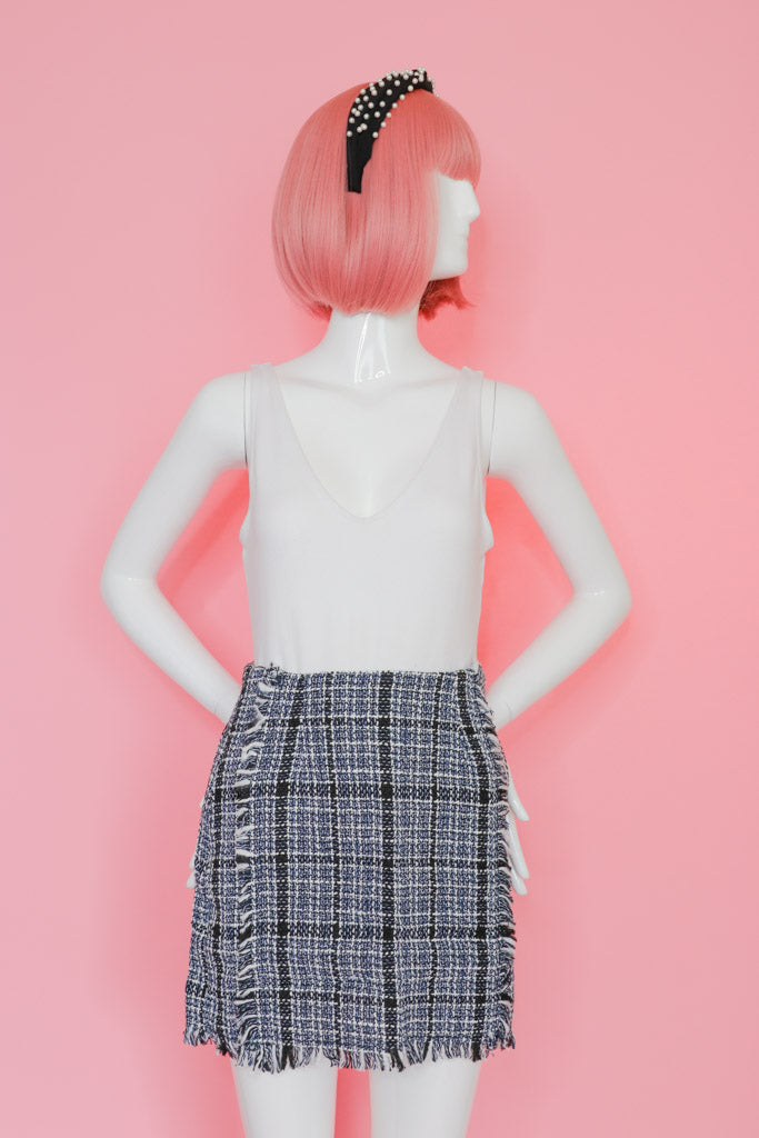 High Waist Plaid Skirt Bottom