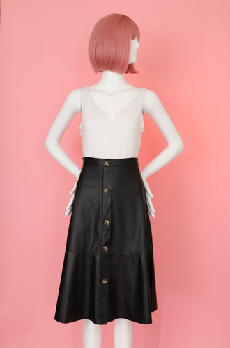Chic Black A-Line Skirt Bottom