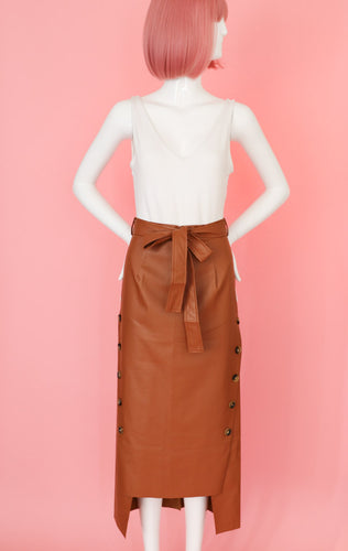 So Classy Brown Midi Skirt Bottom