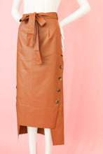 Load image into Gallery viewer, So Classy Brown Midi Skirt Bottom