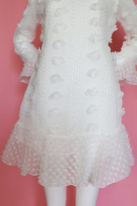Dot White Party Dress