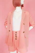 Load image into Gallery viewer, Pink Shorts and Blazer Two Piece Set