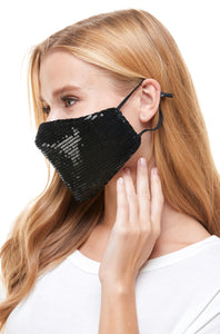 Sequin Black Mask