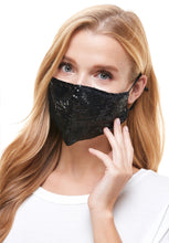 Load image into Gallery viewer, Sequin Black Mask
