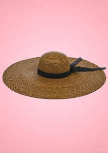 Oversized Straw Hat Brown