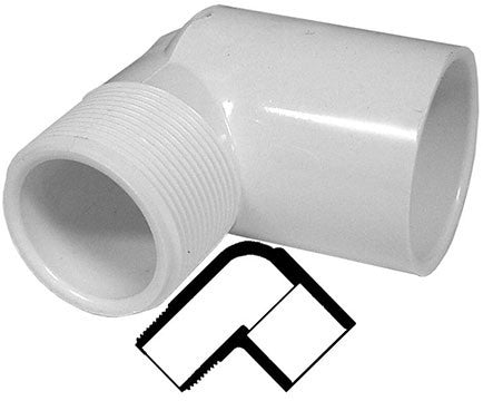 PVC 90 Degree MPT Elbow