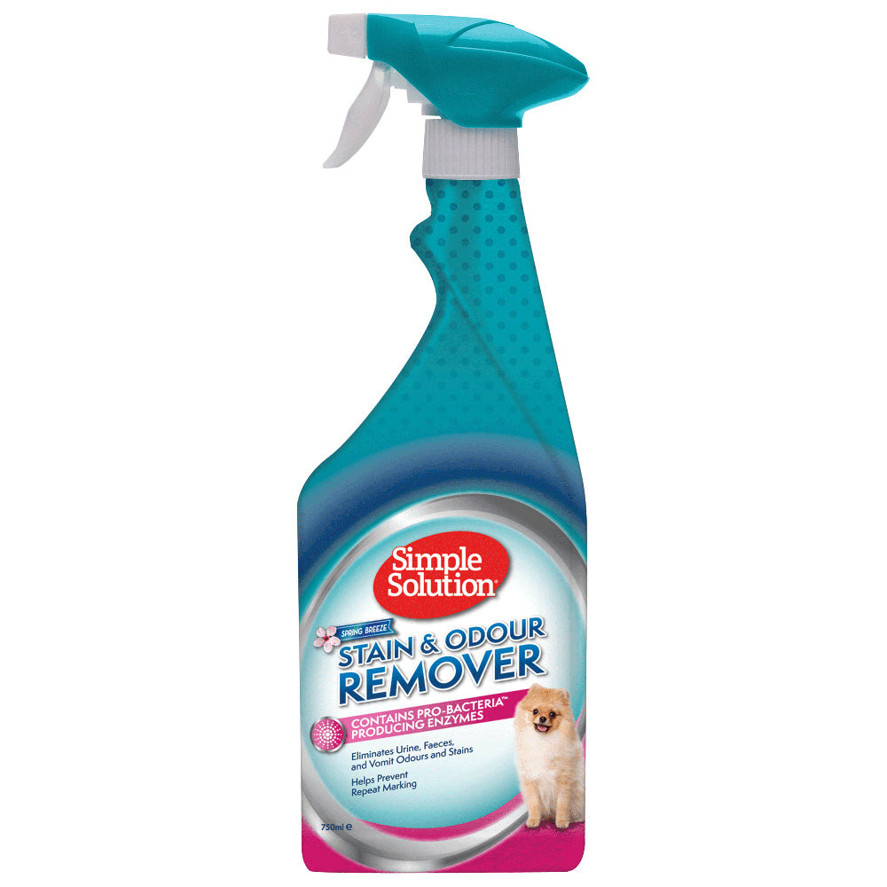 Simple Solution Dog Stain & Odour Remover Enzyme Spray - Spring Breeze 750ml