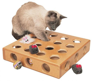 Smartcat Peek-And-Prize Large Toy Box Wooden Cat Toy