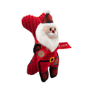 Tuffins Santa Bone 2Pk Red Os by Outward Hound