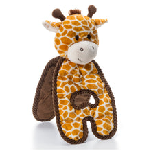 Load image into Gallery viewer, Cuddle Tugs - Giraffe/Cow Dog Toy