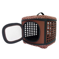 Load image into Gallery viewer, Collapsible Traveling Hand Carrier - Brown