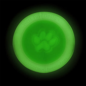 West Paw Zisc Flying Disc Fetch Dog Toy - Small/Large- Glow in the Dark