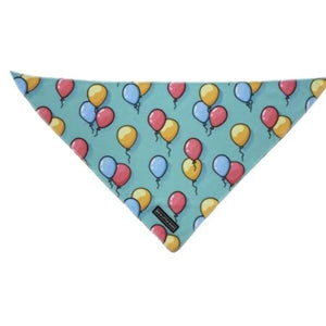 Big & Little Dogs Neckerchiefs (Bandanas) - S/M / Birthday Balloons - Dog Collars & Leads