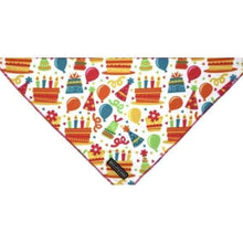 Load image into Gallery viewer, Big & Little Dogs Neckerchiefs (Bandanas) - S/M / Birthday Cake - Dog Collars & Leads