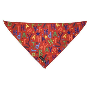 Big & Little Dogs Neckerchiefs (Bandanas) - S/M / Red Birthday - Dog Collars & Leads