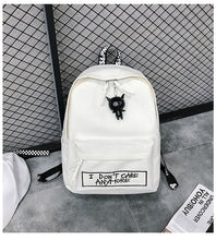 Load image into Gallery viewer, Black and white backpack