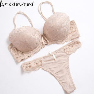 High quality Deep V Sexy Plus size Push up Bra set Floral Embroidery Lace Women Underwear set Bra and Panties 34 36 38 40 42 BCD