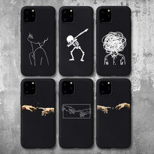 Load image into Gallery viewer, Black case with different designs