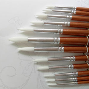 Wooden Paint Brush Set