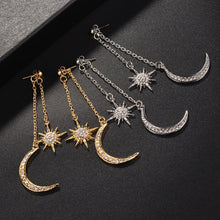 Load image into Gallery viewer, New Bohemian Retro Fashion Sun Moon  Exaggerated Long Pendant Statement Earrings For Women Beach Party Jewelry