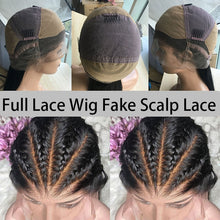 Load image into Gallery viewer, Kinky Straight Wig HD Glueless Full Lace Human Hair Wigs For Women Full Lace Wig Fake Scalp 250 Density Wig U Part Ever Beauty