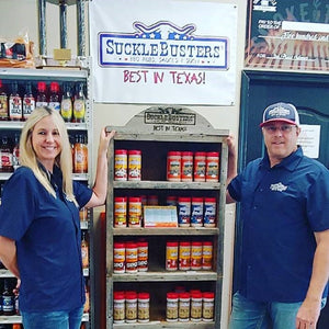 Suckle Busters, Dan Arnold and his wife with the best rubs in Texas