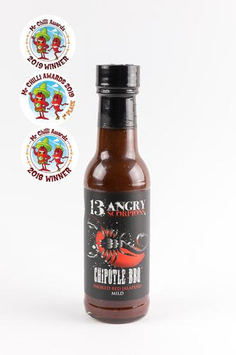 13 Angry Scorpions Chipotle BBQ Sauce Mild - Low & Slow Barbecue Co.
