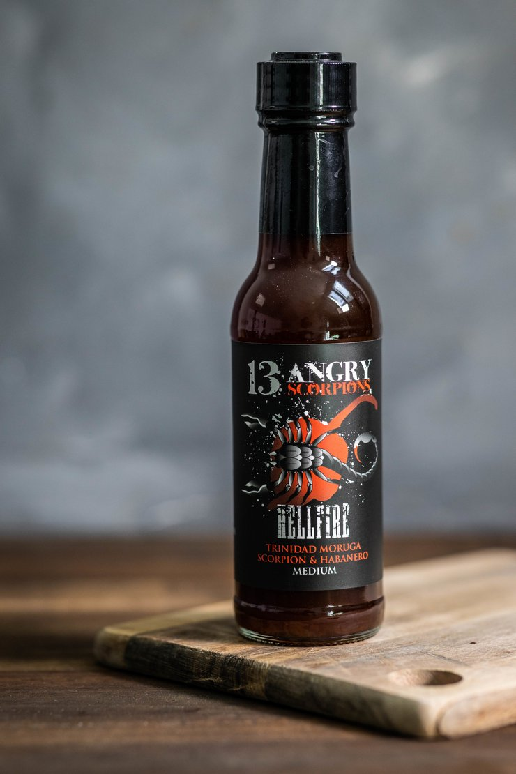 13 Angry Scorpions Hellfire BBQ Hot Sauce - Medium