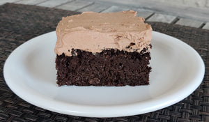 DAIRY FREE Chocolate Cake with Chocolate Frosting