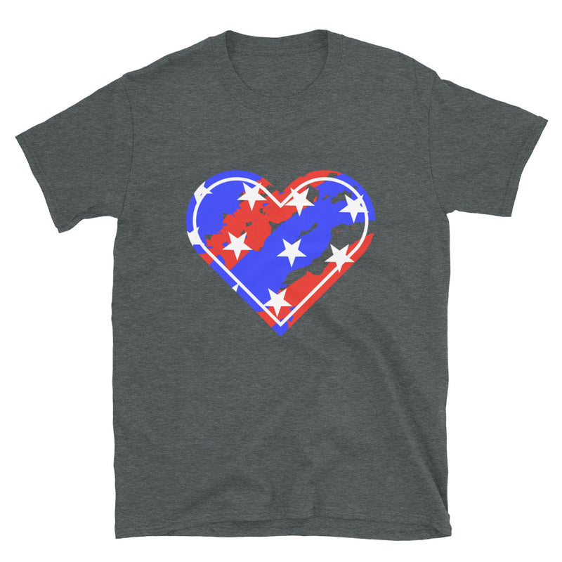 HEART RED, WHITE & BLUE - Live Tuff