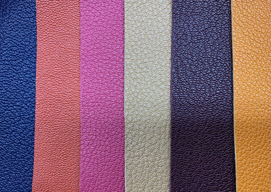 Pebble Goat Colours, Milled Grain, Aniline Goat Leather