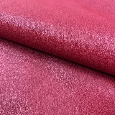 A beautiful, aniline veg tanned goat skin.  With an even grain pattern and aniline finish this is a gorgeous, classic goat leather.  A semi-milled, supple hand feel that still retains a structure, this leather is perfect for small leather goods and bookbinding.