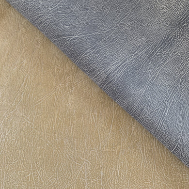 A beautiful two tone Nubuck African Goat skin with white in the valley of the grain lines to emphasise the unique and beautiful natural grain lines of this raw material.