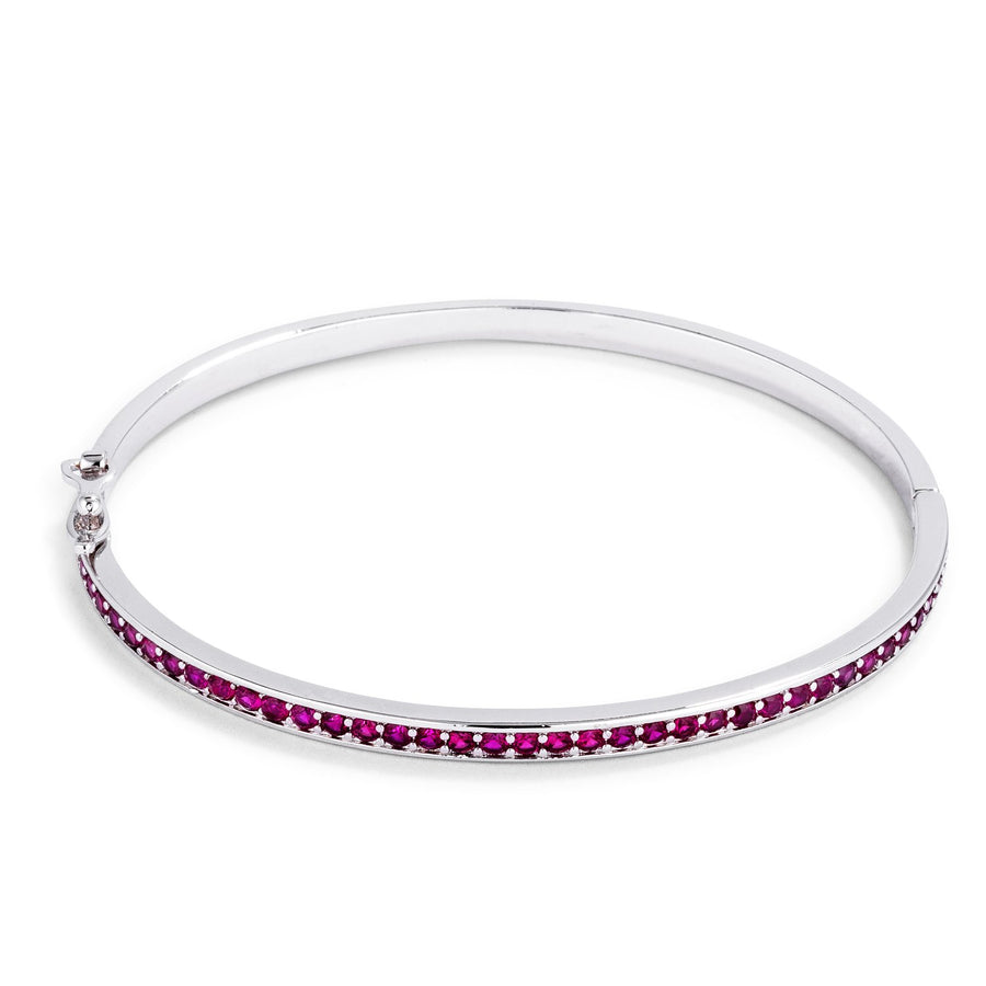 Fuchsia CZ Bangle Bracelet