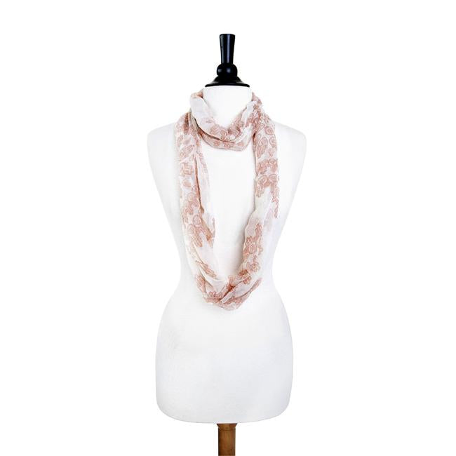Mixology Peach Infinity Scarf